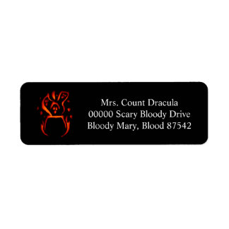 Halloween Address labels 2 2016
