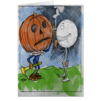 Halloween and Snowball Card