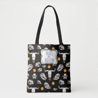 Halloween Animal Skulls Personalized Tote Bag