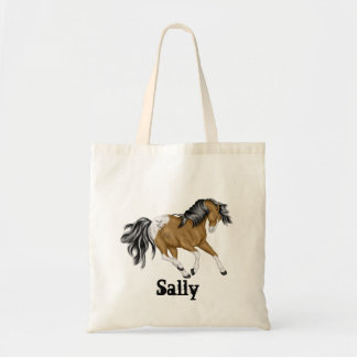 Halloween Appaloosa Horse Personalized Tote Bag