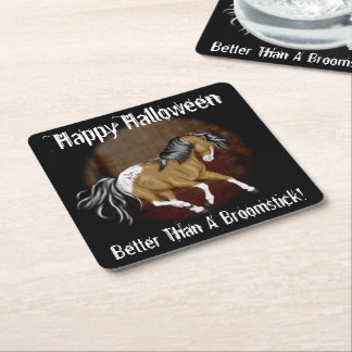 Halloween Appaloosa Horse Square Paper Coaster