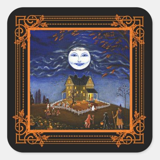 Halloween art stickers,trick or treat