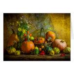 Halloween Autumn Fall Pumpkin Setting Table Greeting Card