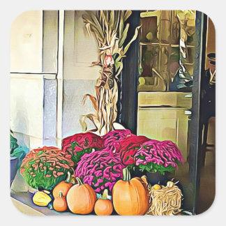 Halloween Autumn Pumpkin Floral Display Stickers
