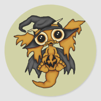 Halloween Baby Dragon Stickers