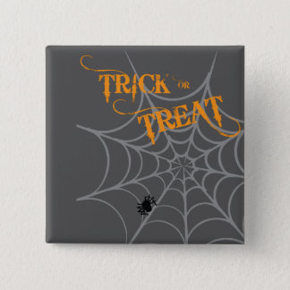 Halloween Badge | Trick or Treat 2 Inch Square Button