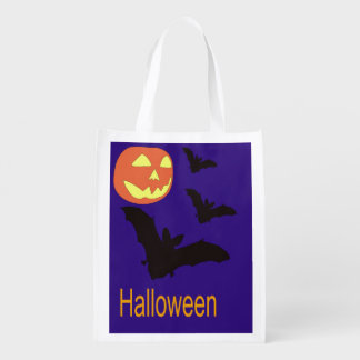 Halloween Bag with Bats and a Jack O' Lantern