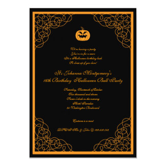 Halloween Ball Costume Party Invitation