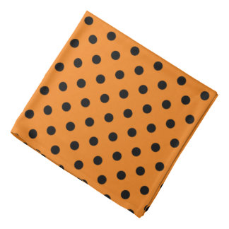 Halloween bandana with orange and black polkadots