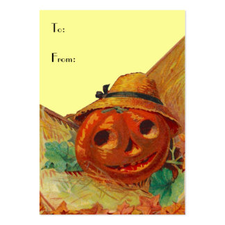 HALLOWEEN BASKET TAGS ~ GIFT TAG CARDS & BUSINESS LARGE BUSINESS CARD