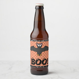 Halloween Bat Beer or Soda Bottle Labels