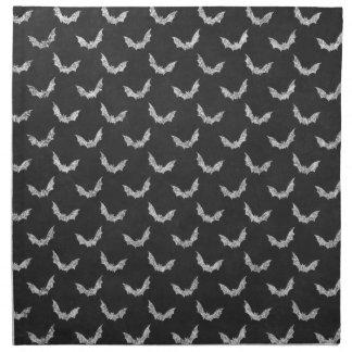 Halloween Bat Chalkboard Pattern Cloth Napkins
