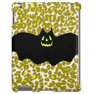 Halloween Bat On Golden Leopard Spots