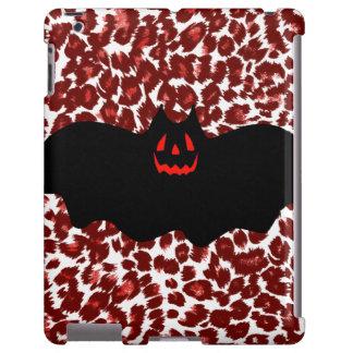 Halloween Bat On Red Leopard Spots