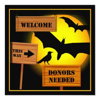 Halloween Bats Funny Party Invitation