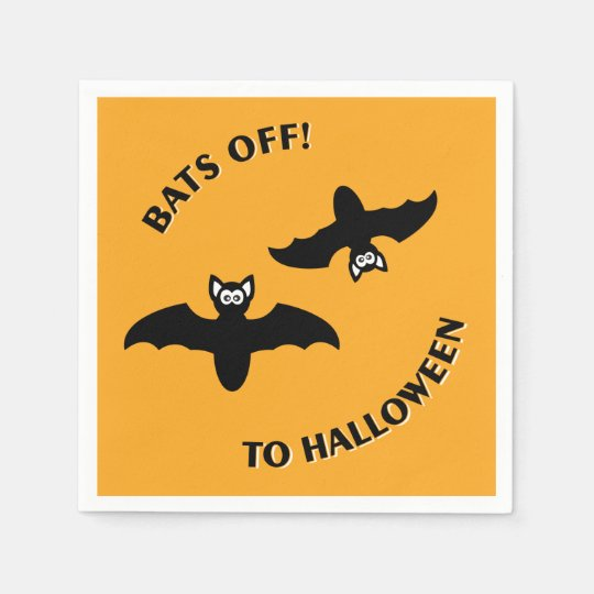 Halloween Bats Orange Disposable Napkin