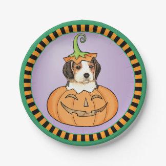 Halloween Beagle Paper Plate