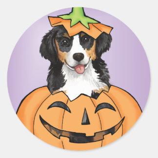 Halloween Berner Classic Round Sticker