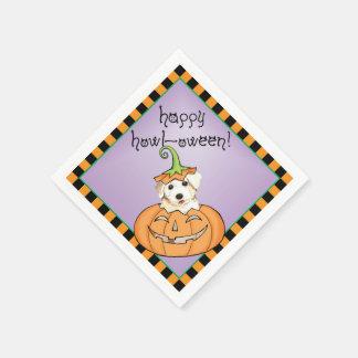 Halloween Bichon Disposable Napkins