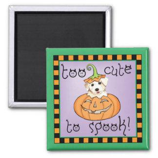Halloween Bichon Square Magnet