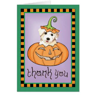 Halloween Bichon Thank You Card