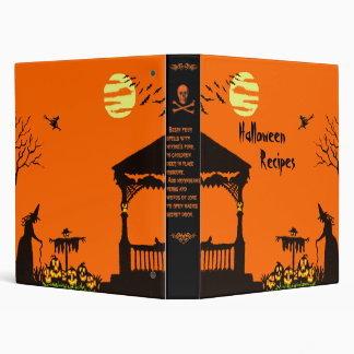 Halloween Binder for recipes