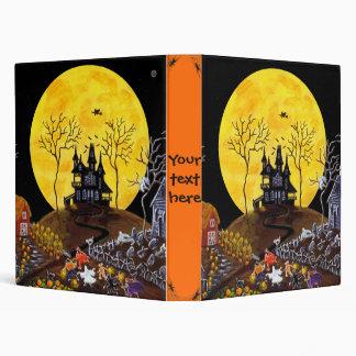 Halloween binder for recipes,photos etc