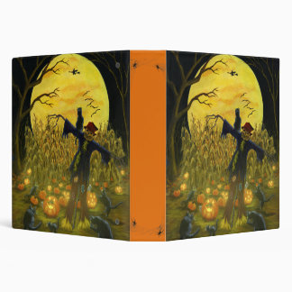 Halloween binder with scarecrows,black cats