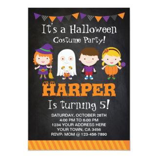Halloween birthday Invitation, Costume party Card