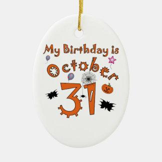 Halloween Birthday October 31st Ceramic Ornament