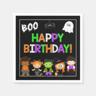 Halloween Birthday Party Paper Napkins