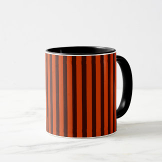 Halloween Black and Orange striped Mug