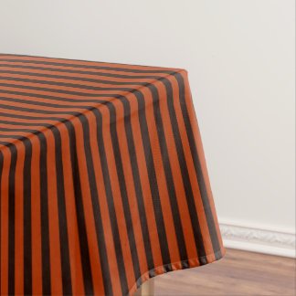 Halloween Black and Orange striped Tablecloth