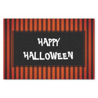 Halloween Black and Orange striped Tissue Paper