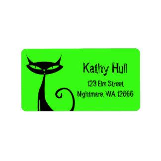 Halloween Black Cat Address Labels