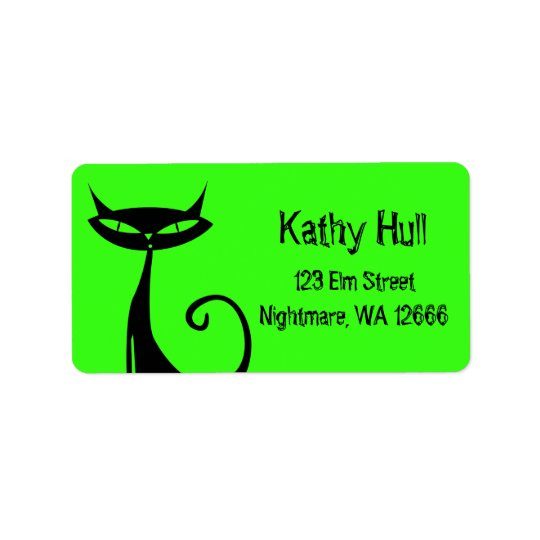 Halloween Black Cat Address Labels