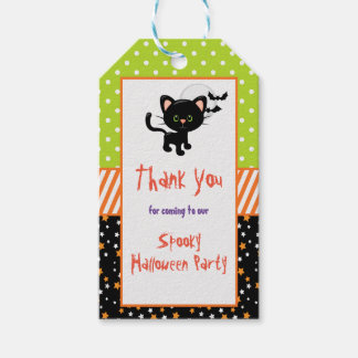 Halloween Black Cat and Full Moon Gift Tags