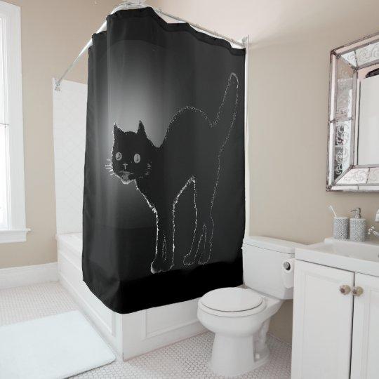 Halloween Black Cat Backlit Rim Lighting