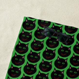 Halloween Black Cat Beach Towel