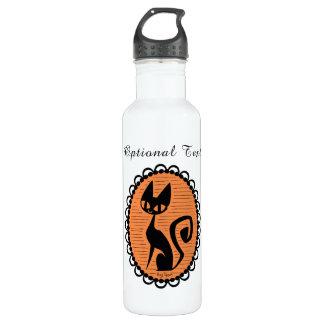 Halloween Black Cat Cameo 710 Ml Water Bottle