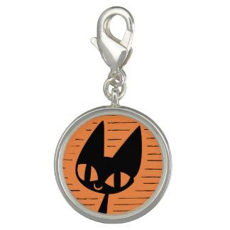 Halloween Black Cat Cameo Charm