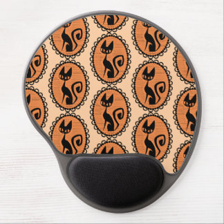 Halloween Black Cat Cameo Gel Mouse Pad