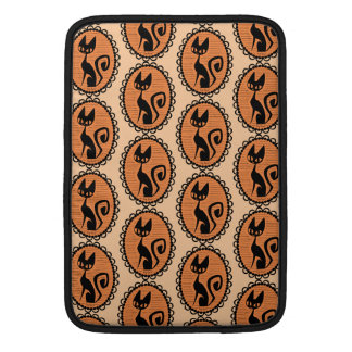 Halloween Black Cat Cameo MacBook Sleeve