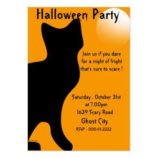 Halloween Black Cat - Customized Large Business Card
