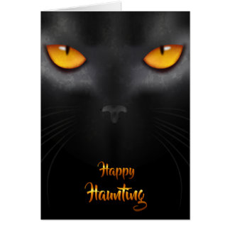 Halloween - Black Cat EYES Card