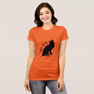 Halloween Black Cat Good Witch Women's T-Shirt