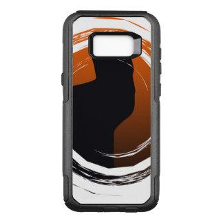 Halloween Black Cat in Spiral Design OtterBox Commuter Samsung Galaxy S8+ Case