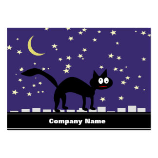 Halloween Black Cat on Fence Pack Of Chubby Business Cards
