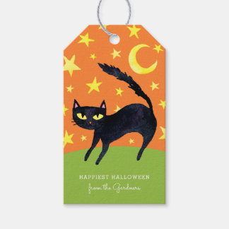 Halloween Black Cat Pack Of Gift Tags