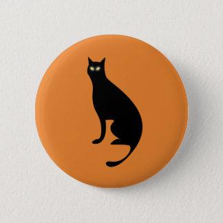 Halloween Black Cat, Retro Pin